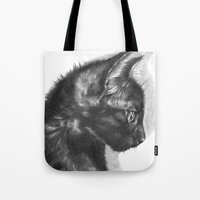 sam smith Tote Bags featuring Sam by Aline Blanc