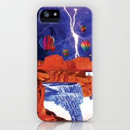 Thunderstorms Over Red Canyon iPhone Case