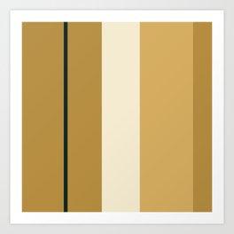 A fantastic union of Dark Tan, Pale, Dark and Earth Yellow vertical stripes. Art Print