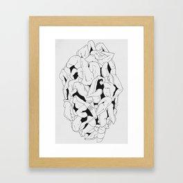 Body mash II Framed Art Print