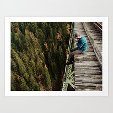 Bridge Sitting Art Print