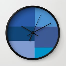 Blue Squares  Wall Clock