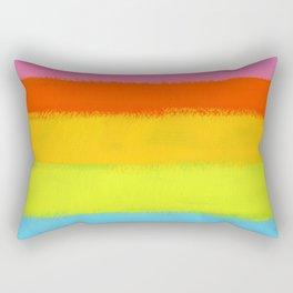 Rainbow Painting Rectangular Pillow