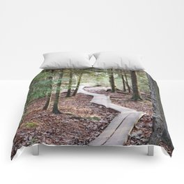Duckboards to deep forest Comforters