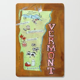 VERMONT map Cutting Board