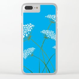 Queen Anne's Lace a Kentucky Wild Flower Clear iPhone Case