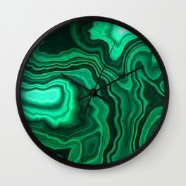 Emerald Marble Wall Clock