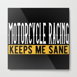 Motorcycle Driving Lovers Gift Idea Design Metal Print