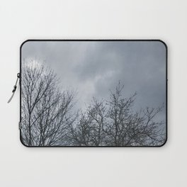Winter Sky, Cloudy Winter Sky, Beautiful Clouds and Trees Laptop Sleeve