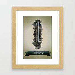 4-D Sword Framed Art Print