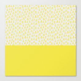 Triangles yellow Canvas Print