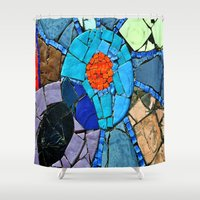 mosaic Shower Curtains featuring mosaic by  Agostino Lo Coco