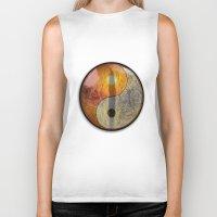 yin yang Biker Tanks featuring yin yang by Vector Art