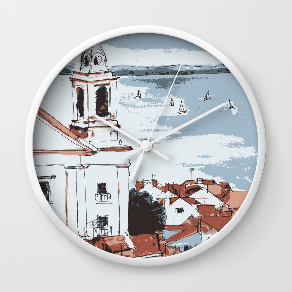 Lisbon Portugal Wall Clock