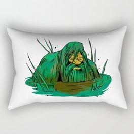 Bigfoot  creeping in swamp Rectangular Pillow