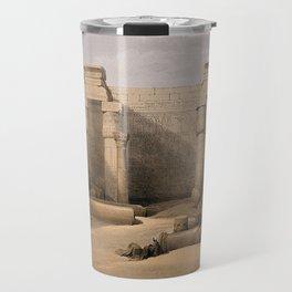 Ruins at Medinet Abou, Thebes, Egypt Travel Mug