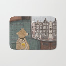 a new adventure for bear Bath Mat