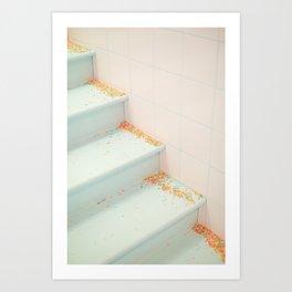Blue Sprinkle Stairs Art Print