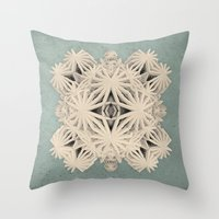 cyberpunk Throw Pillows featuring Ancient Calaabachti Filigrane by Obvious Warrior