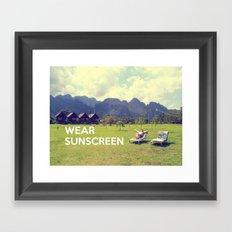 Wear Sunscreen Framed Art Print