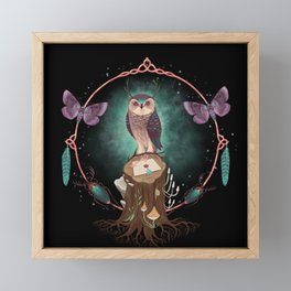 Enchanted Woodland Secret Keeper And Dream Catcher Framed Mini Art Print