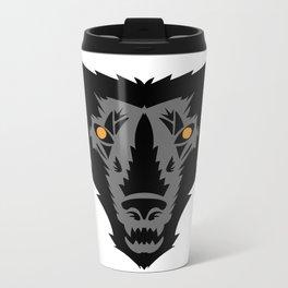 Gray wolf Metal Travel Mug