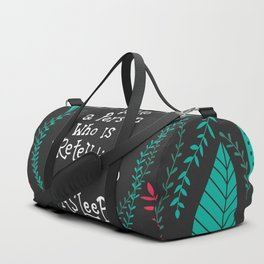 You can not wake a person who is pretending to be asleep inspirational quote, handlettering 005 Duffle Bag
