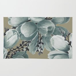 Spring Tulips Neutral  Rug