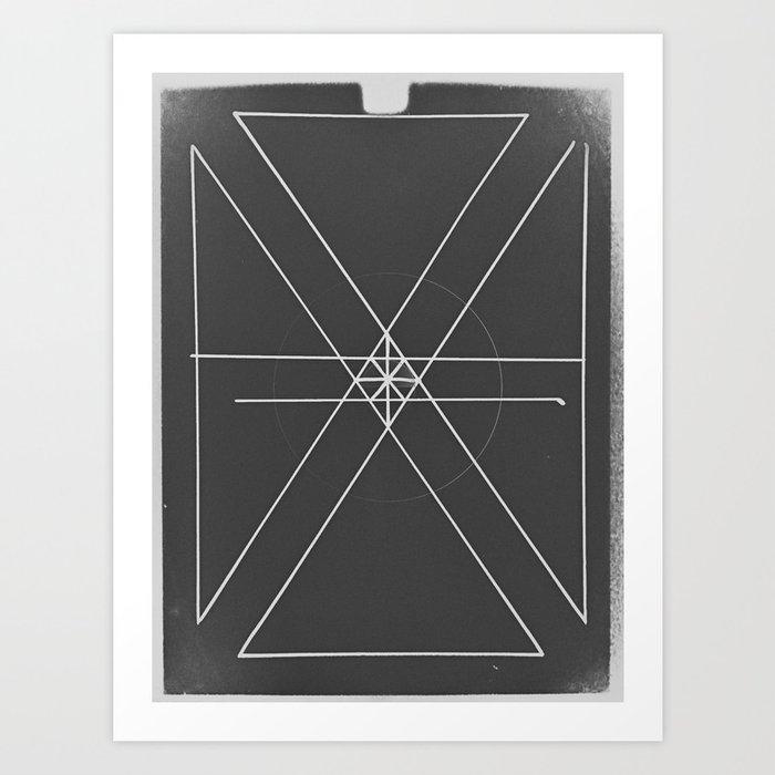 Gray Lines and Crossings Art Print