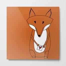 Mr. Fox Loveletter Metal Print