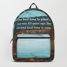 The best time to plant a tree was 20 years ago. The second best time is now. Backpack