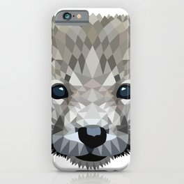Baby wolf color blocking iPhone Case