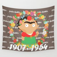 frida kahlo Wall Tapestries featuring Frida Kahlo by Alapapaju