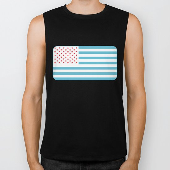 U.S.A. Flag Modified Biker Tank