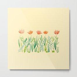 Orange Daylilies Metal Print