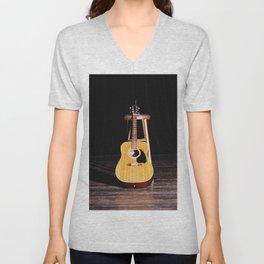 The Silent Guitar Unisex V-Neck