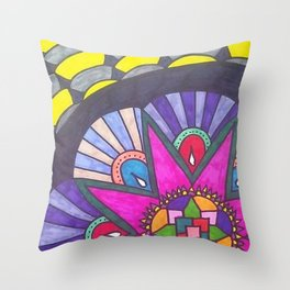Blossoming Solo Throw Pillow