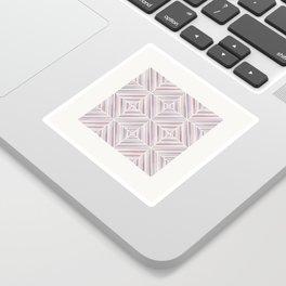 Herringbone Diamonds - Mauve Sticker