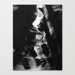 Antelope Canyon Black & White Canvas Print
