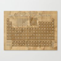 periodic table Canvas Prints featuring periodic table of elements by Bekim ART