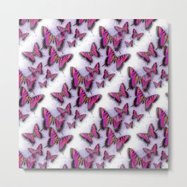 Butterflies African Kente Cloth Inspired Metal Print