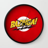 bazinga Wall Clocks featuring Bazinga Flash by Nxolab