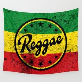 Reggae Rastafari Flag with vintage texture Wall Tapestry