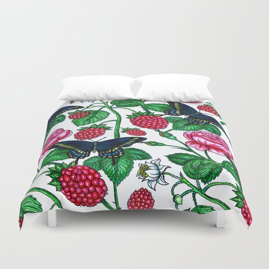 Raspberries pattern Duvet Cover