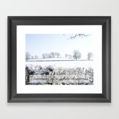Dreaming of a white Christmas Framed Art Print