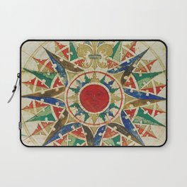 Vintage Compass Rose Diagram (1502) Laptop Sleeve