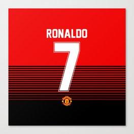 Ronaldo - Manchester UNited HOme 2018/19 Canvas Print