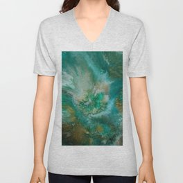 Dawning of a Galactic Planet Unisex V-Neck