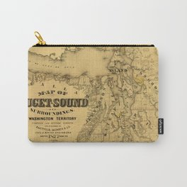 Map of Puget Sound 1877 Carry-All Pouch