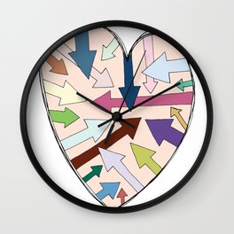Which Way To Your Heart? Wall Clock